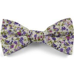 Lila Blumen Fliege aus BaumwolleTrendhim.de #flowerfabric