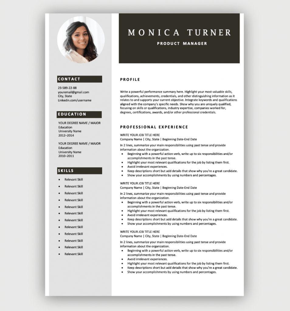 Best Resume Templates Word 2021 Free Resume Template Download Cv Templates Free Download Resume Template Professional