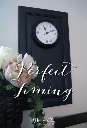 Perfect Timing Wall Clock - project from White Tulip Designs
