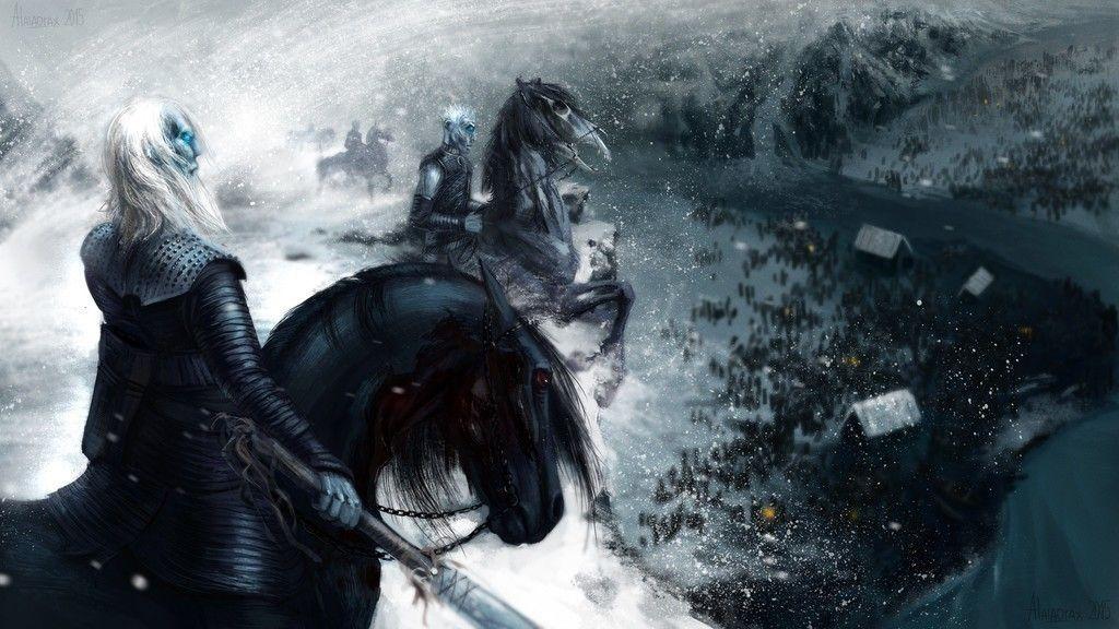 Night King Game Of Thrones White Walkers Fan Art Wallpaper