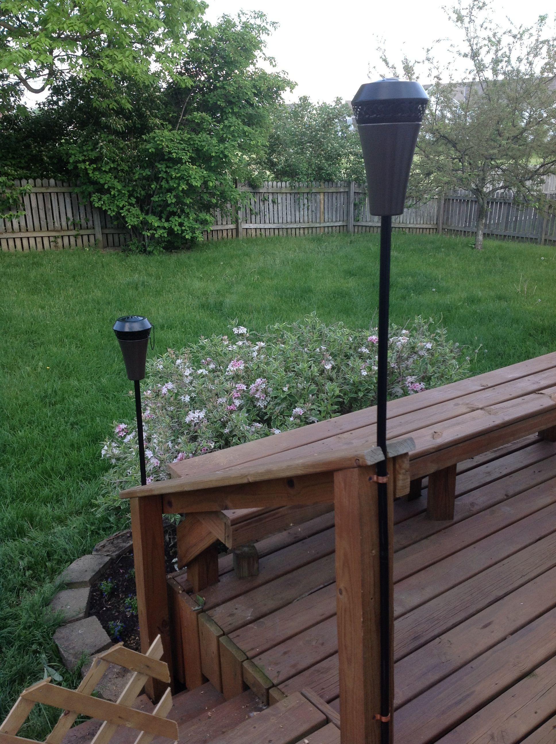 deck mounted tiki torches landscape u0026 garden pinterest tiki