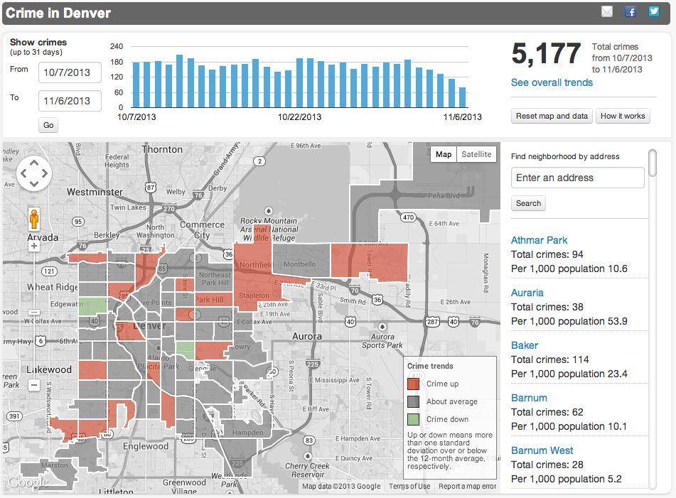 Denver, Colorado Crime Map and Crime Statistics from The