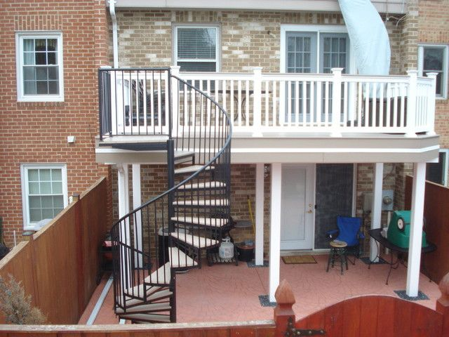 decks with spiral staircase designs traditional staircase design