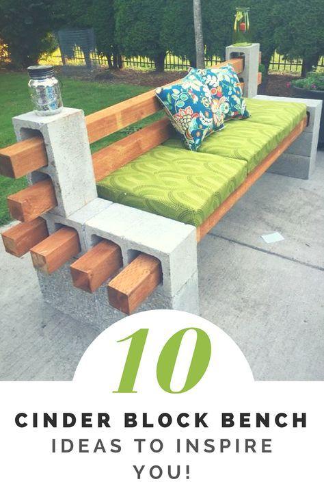 How to Make a Cinder Block Bench: 10 Amazing Ideas to Inspire You! #feuerstellegarten