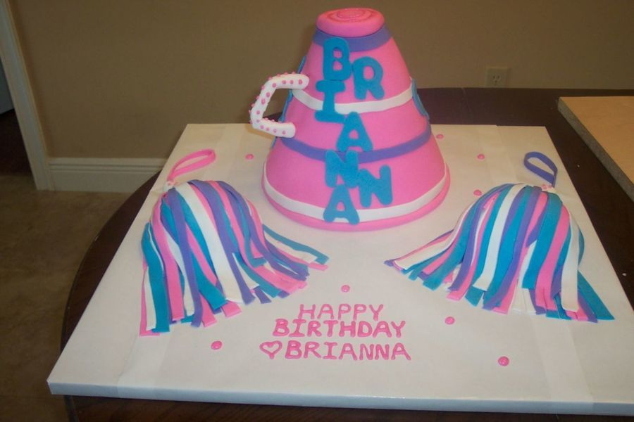 Cheerleader Birthday On Cake Central Cheerleading Cake Decorating