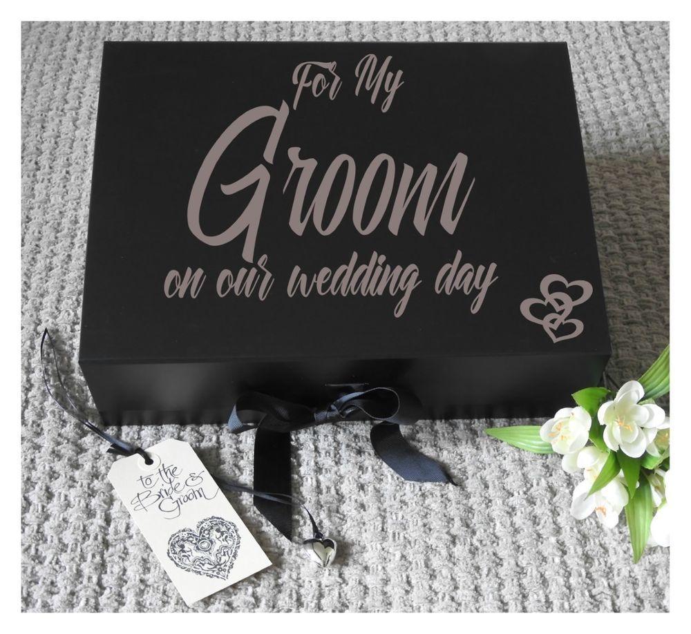Large groom box grooms gift box wedding keepsake groom