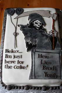 Grimreaper With Images Over The Hill Cakes Birthday Cake Cake