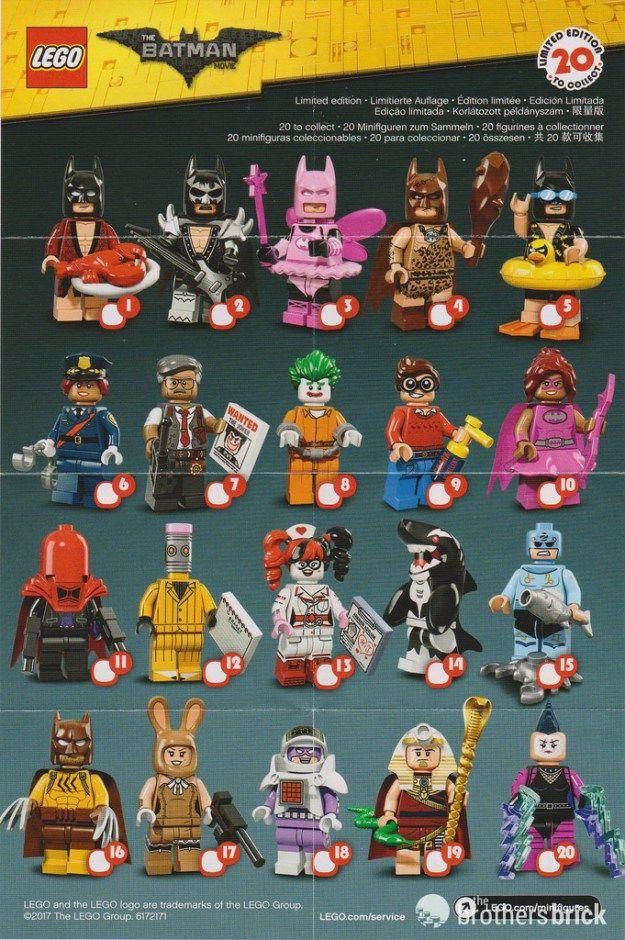 Lego Minifigures Batman Series Needing Numbers 2 5 6 7