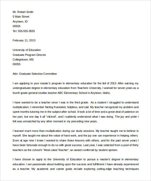 Letter Of Intent For University Application Sample from i.pinimg.com