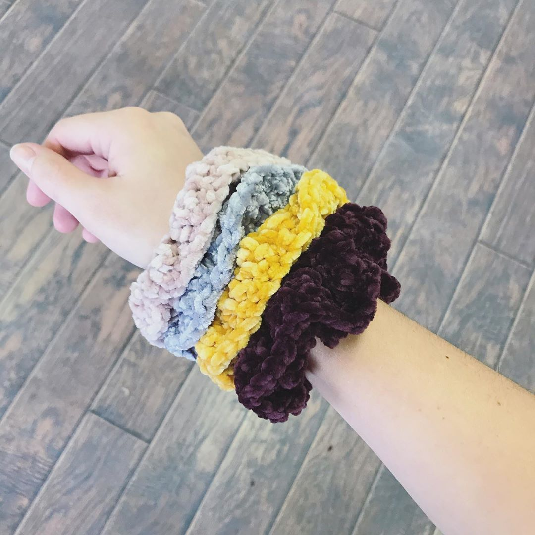 You guyssssss! Velvet Hair Scrunchies hit the shop!!!!! I can't get enough of them