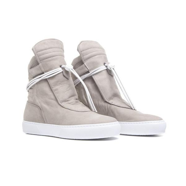 GIOVE HIGH Cream Nabuk - Nero by Ylati Footwear - YLATI - [product_name] -
