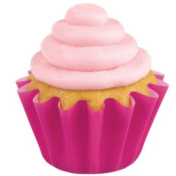 Wave Cupcake Liners Pink With Images Baking Cups