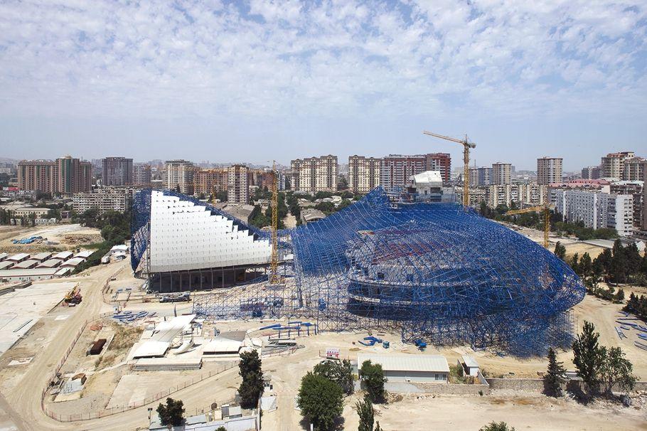 Construction Of Heydar Aliyev Center By Zaha Hadid (part   Adelto