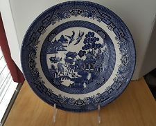 Churchill Blue Willow Fine English Tableware 8 7/8  Round Vegetable Bowl England & Churchill Blue Willow Fine English Tableware 8 7/8