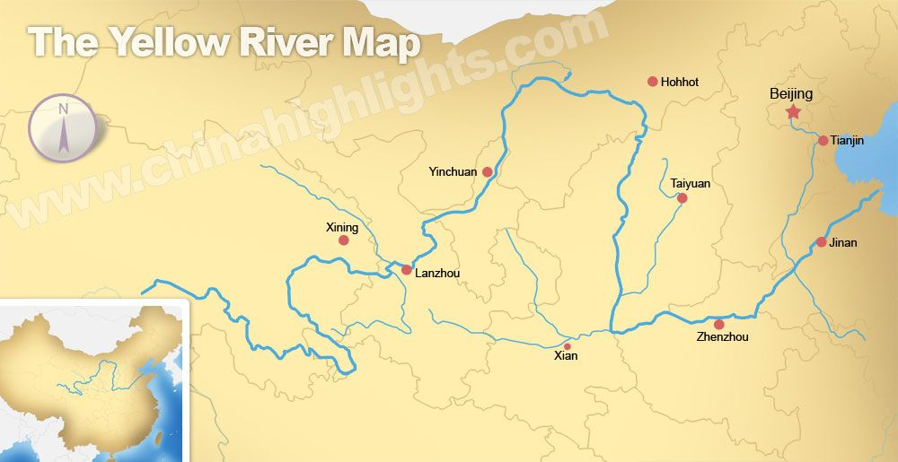 Yellow river valley huang river valley history timeline the yellow river map map of the yellow river gumiabroncs Choice Image
