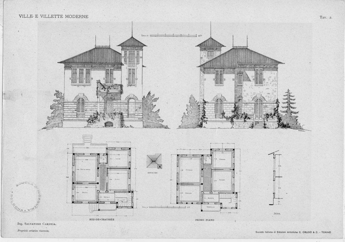Ville e villette moderne progetti e schizzi di fa nel for Architettura ville moderne
