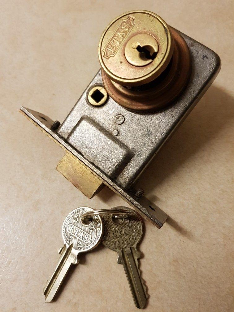 Etas Cylinder Pocket Lock 1930s Lock And Key Personalized Items Cylinder