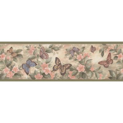 Brewster 6.75 in. Butterflies Border137B38634 The Home