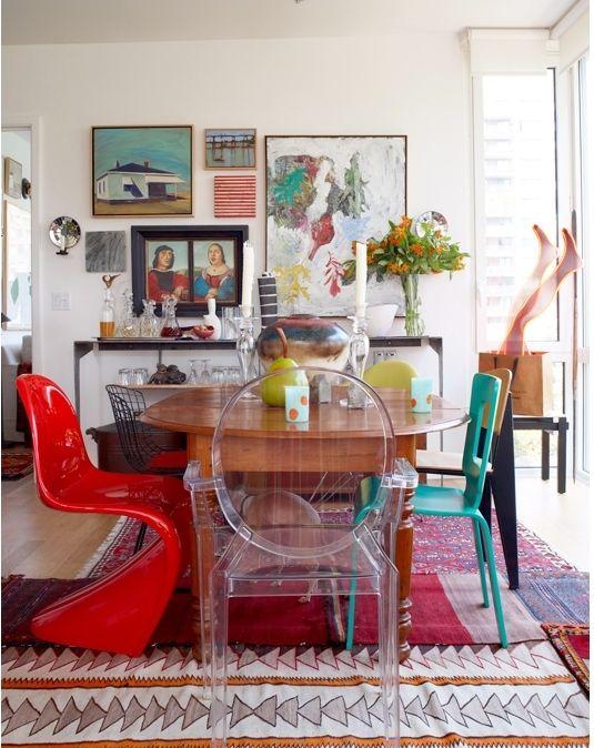 Eclectic Dining Room Simple Arte E Decoração Decoração Mesa De Jantar Com Cadeiras Diferentes Design Decoration