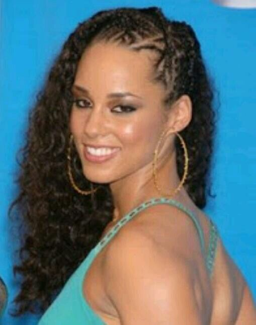 side cornrows alicia keys girly