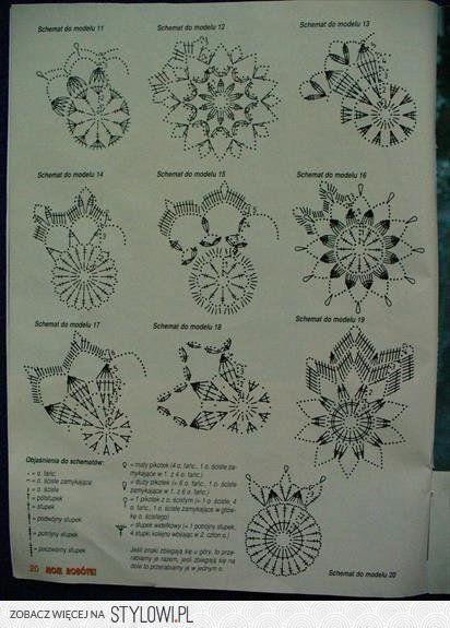 Ozdoby Swiateczne Szydelkowe Hľadat Googlom Christmas Crochet Patterns Crochet Snowflake Pattern Crochet Rug Patterns
