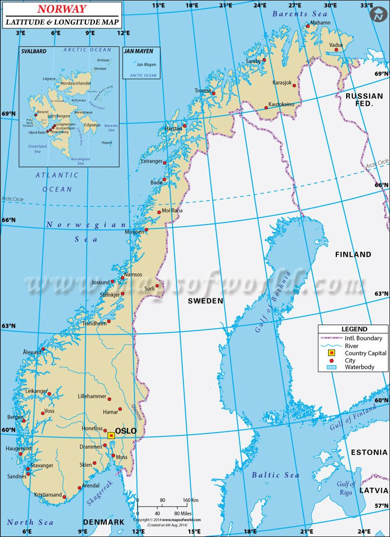 Best Site For Latitude And Longitude Maps Norway School All - Norway map towns