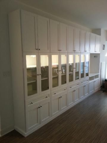 Custom designed muti function wall unit in our client\'s condo ...