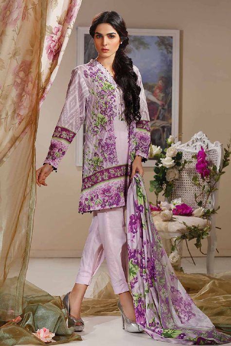 2b5a74ee88 Warda Latest Summer Dresses Printed   Embroidered Collection 2019 ...