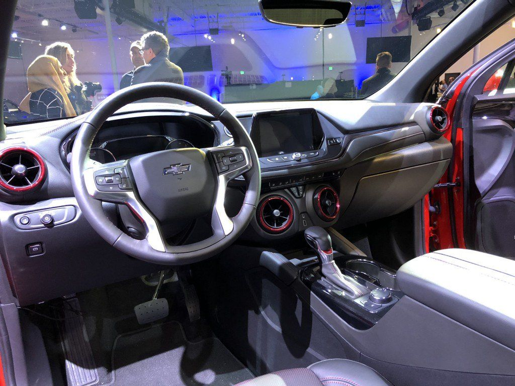 2019 Chevrolet Blazer Rs Interior Live Reveal 001 Chevy