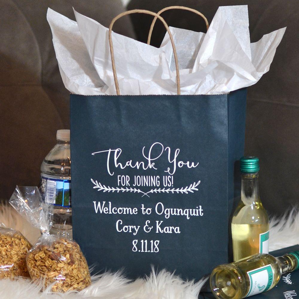 8 x 10 kraft wedding gift bags personalized