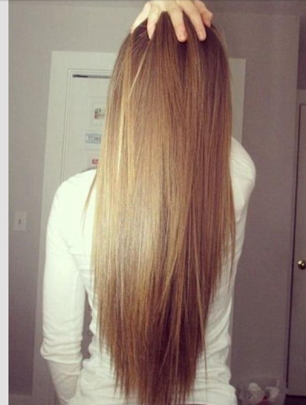 long layered hair shape