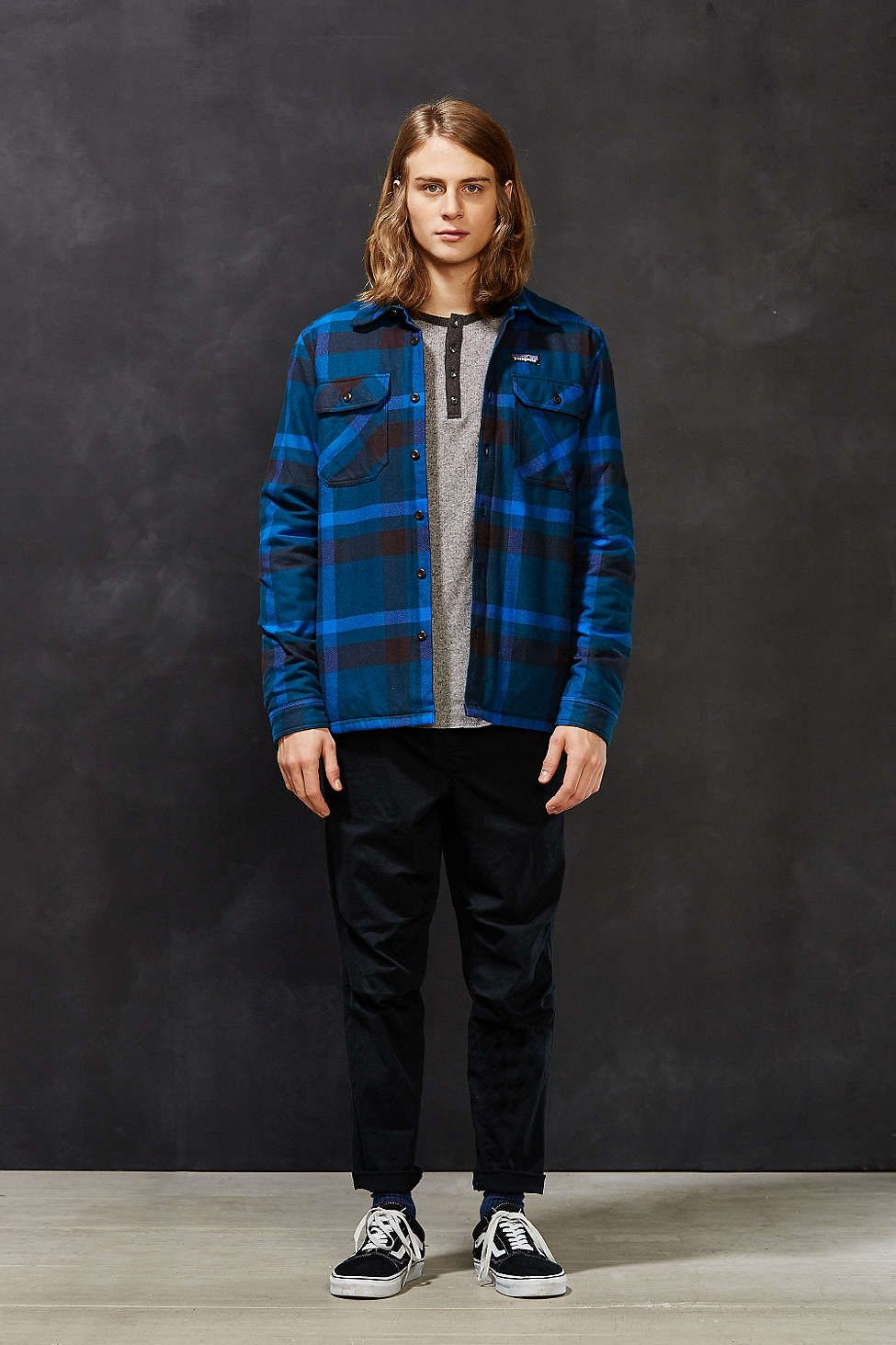 Patagonia Insulated Fjord Flannel Jacket Shirt H I S