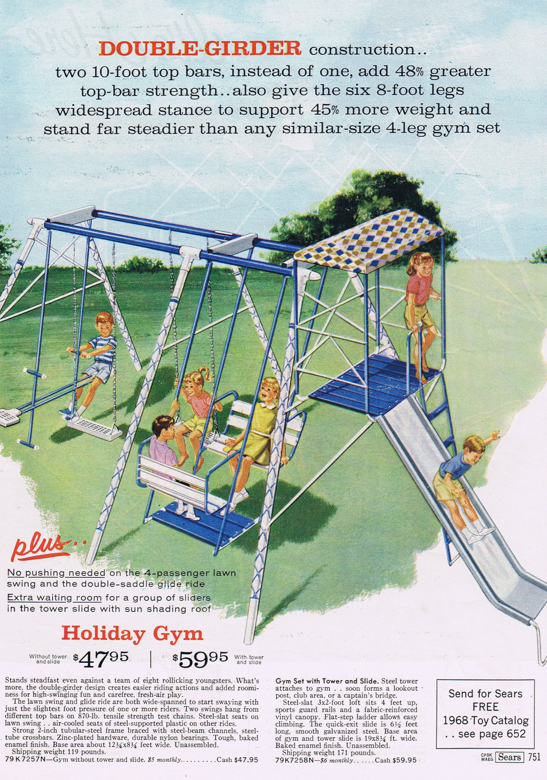Pin By The Vintage Resource On Mid Century Toys And Games Playset Outdoor Lawn Swing