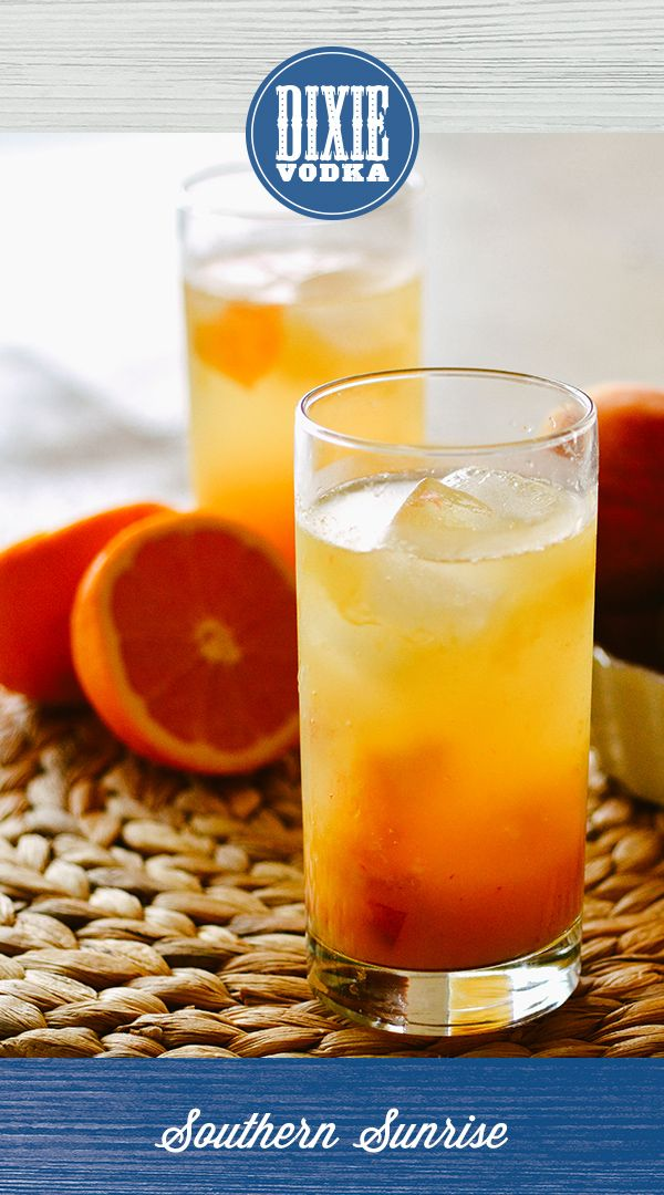 DIXIE COCKTAIL – Southern Sunrise: In a shaker, muddle 1