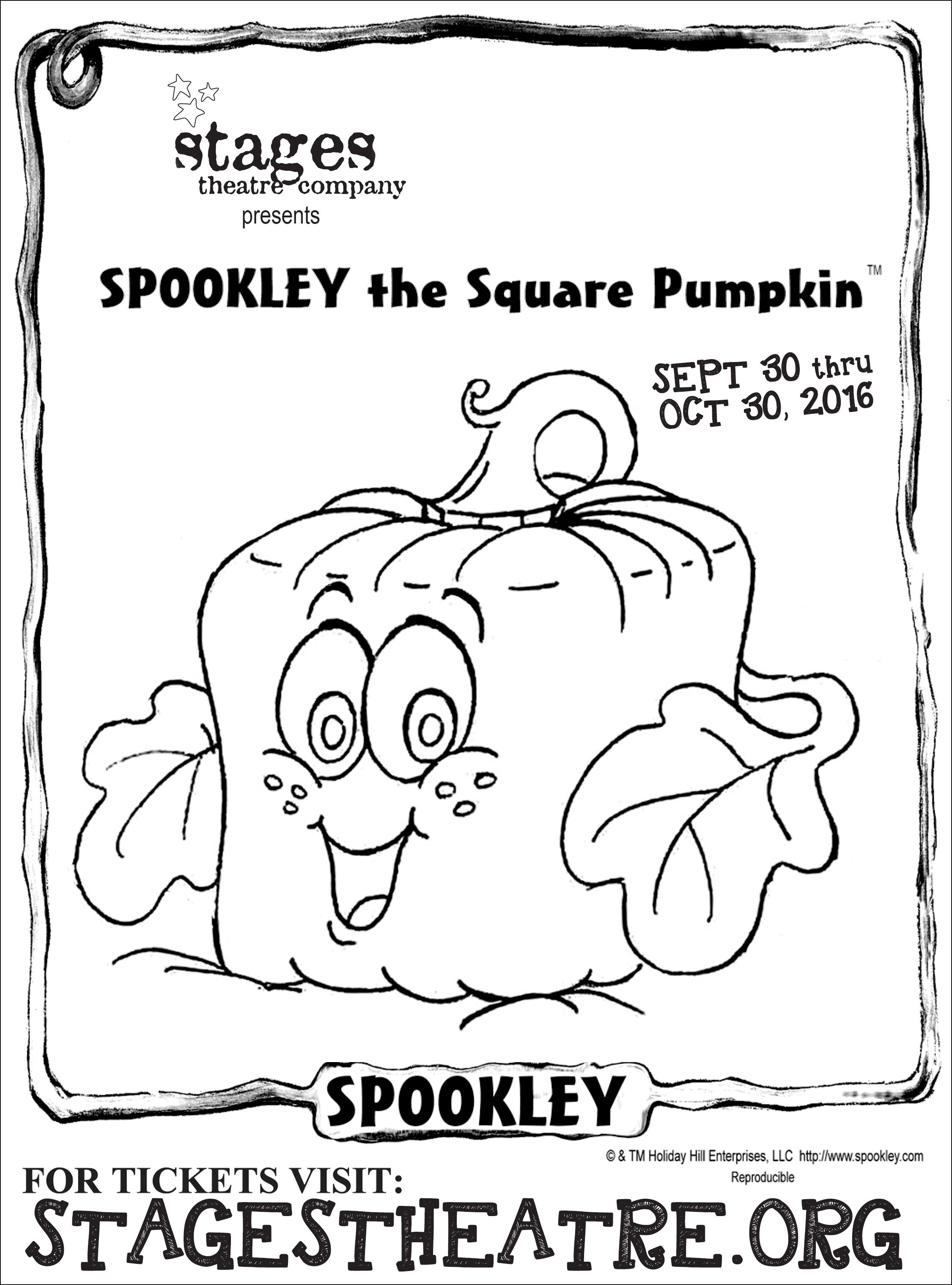 Coloring Sheet For Spookley The Square Pumpkin