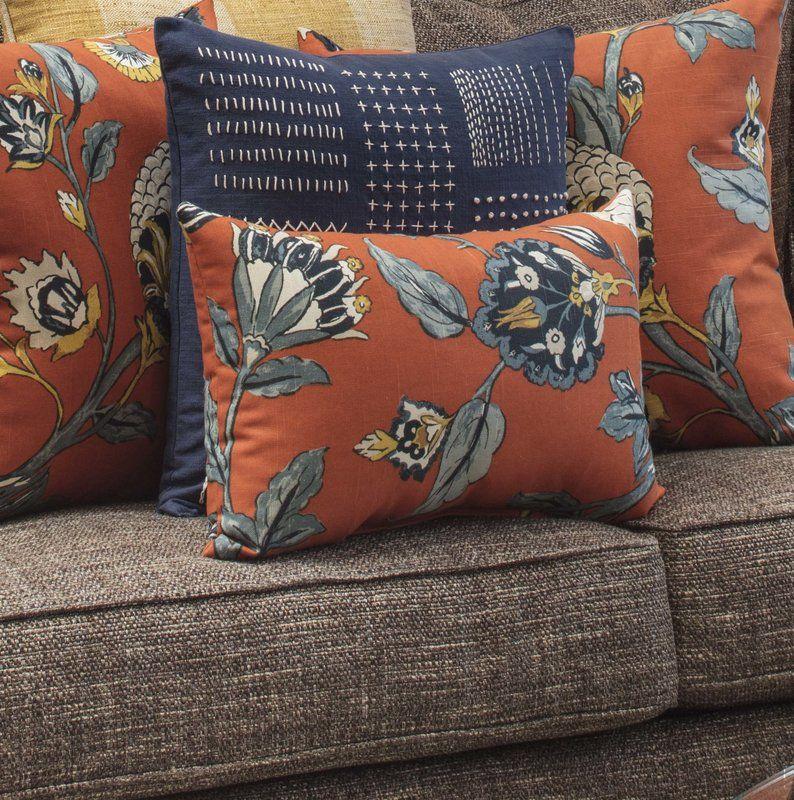 Septak Auretta Persimmon Lumbar Pillow Red barrel studio