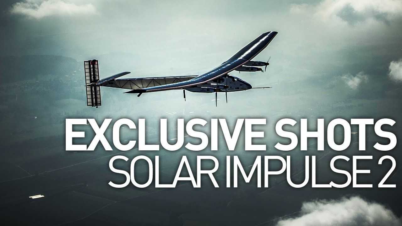 Solar Impulse 2 Airplane Exclusive Shots, Only Shot with GoPro