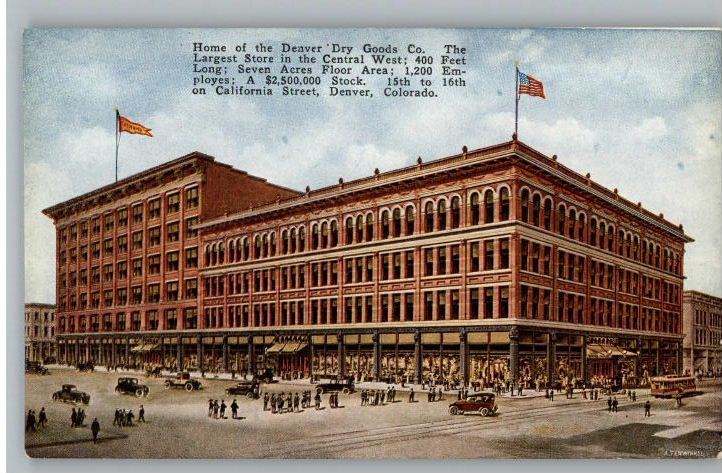 Old Postcard Denver Dry Goods Company Store Colorado Co Colorado Postcard Antique Postcard