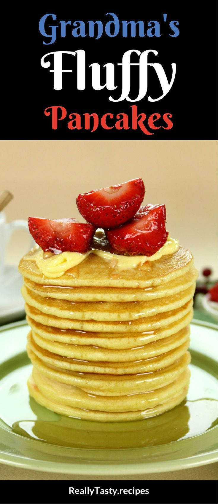 Fluffy pancakes recipe really tasty recipes breakfast food why eat regular pancakes when you can enjoy super fluffy pancakes just the way grandma used to make them ccuart Gallery