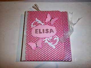 Mini album for girl - Pink and pois - Lucy...scrap e non solo!
