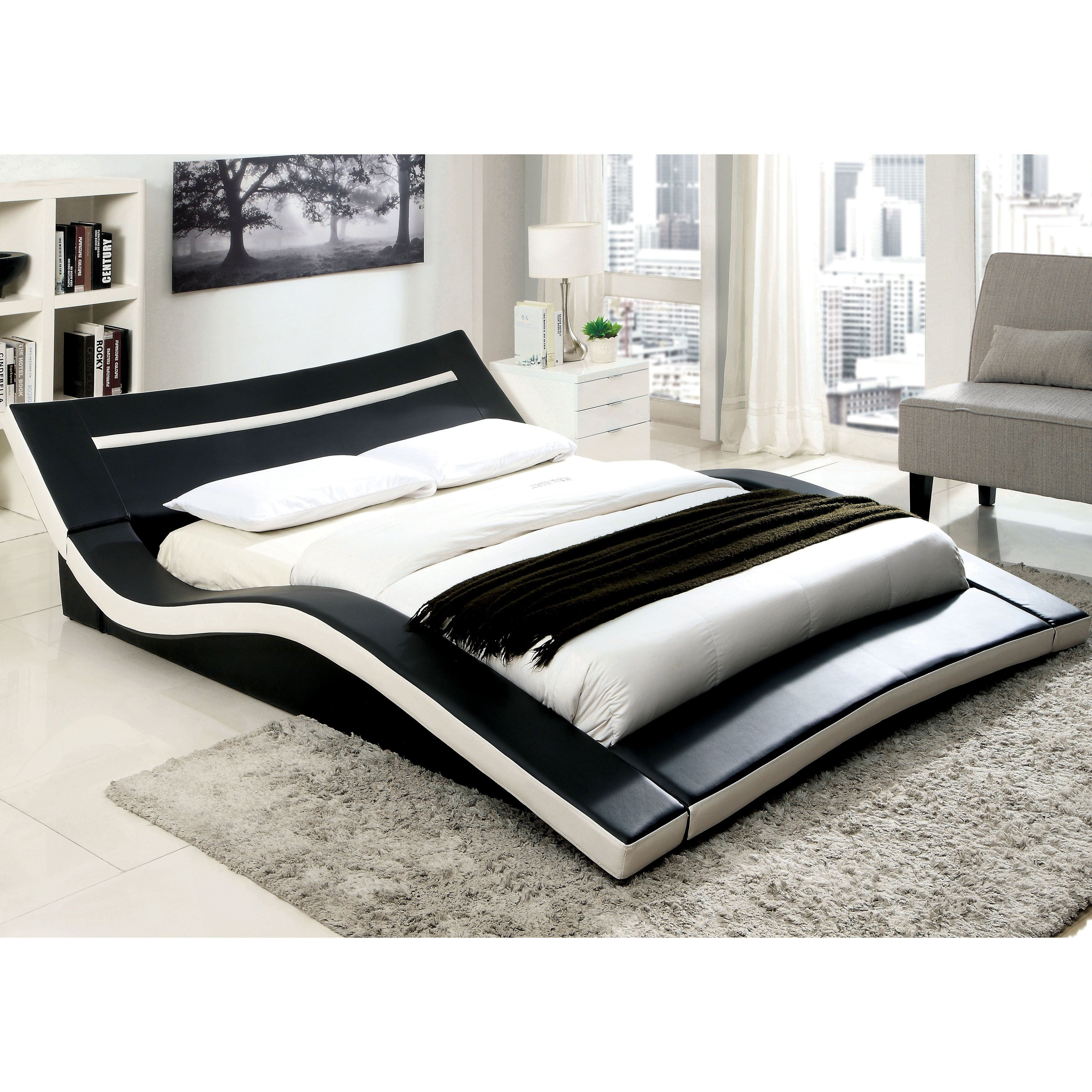 Best Furniture Of America Quip Modern Black Faux Leather 640 x 480