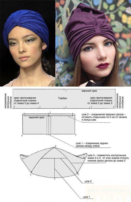 How to sew a stylish turban...♥ Deniz ♥ | Sinamor | Pinterest ...