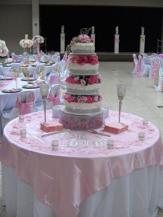 Wedding Cake Table Idea Buy A Turquoise Cloth And Lime Green Cream Silk Petals