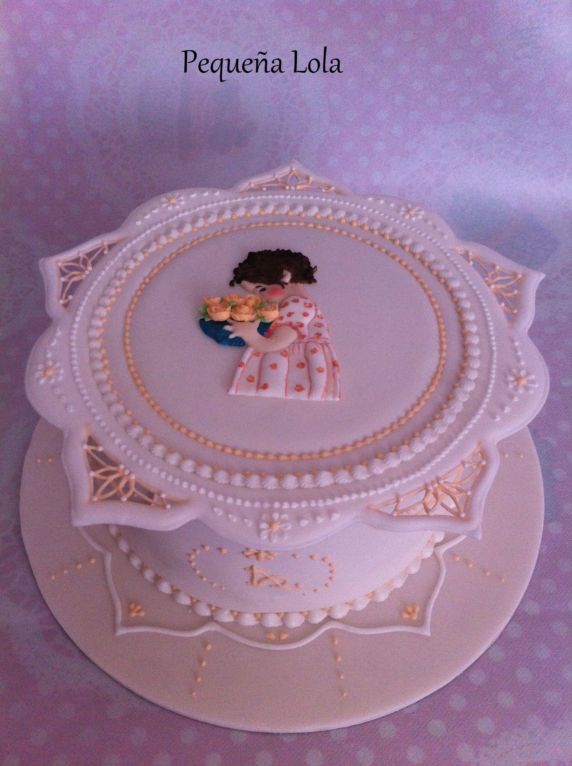 Royal icing collar cake for my grandma\'s 91st birthday Tarta collar ...