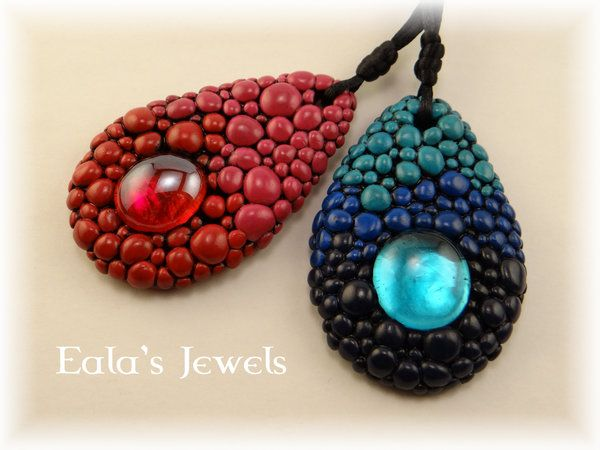 Dragon pendants by Shatiel85.deviantart.com on @DeviantArt