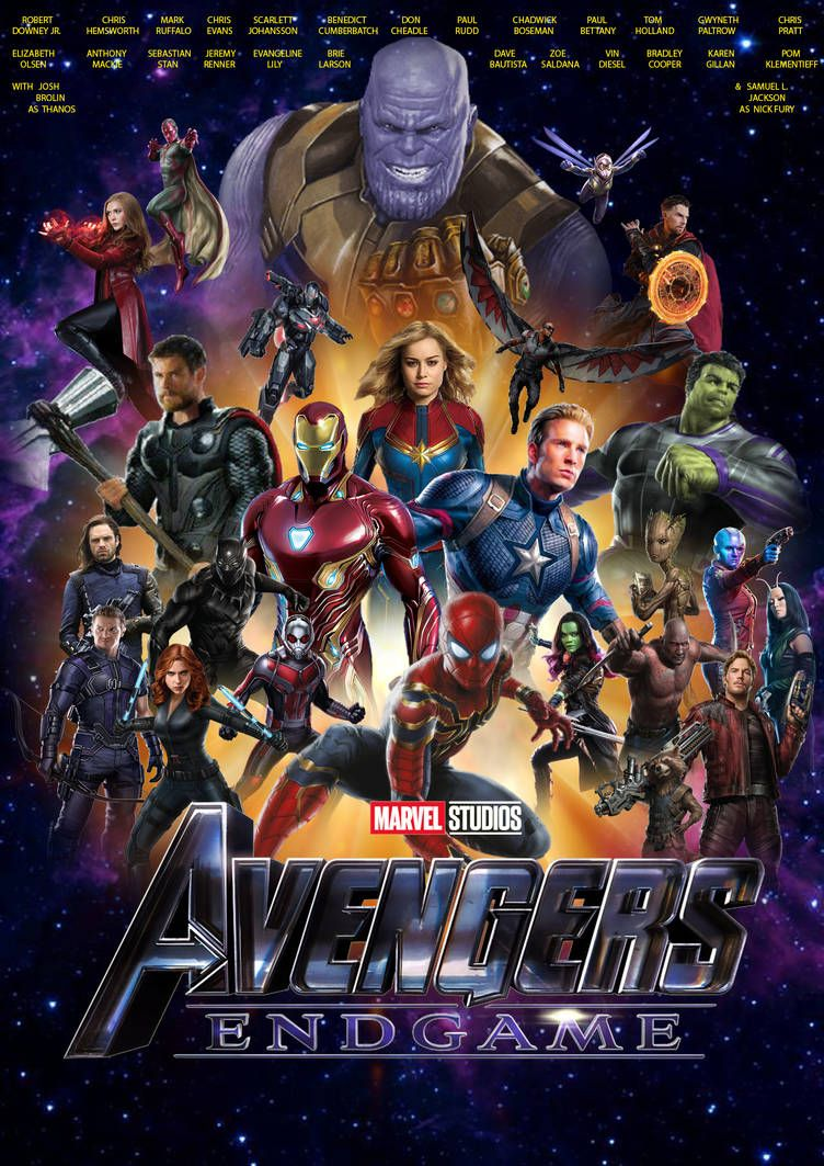 Avengers Endgame Poster upcoming movies of 2019