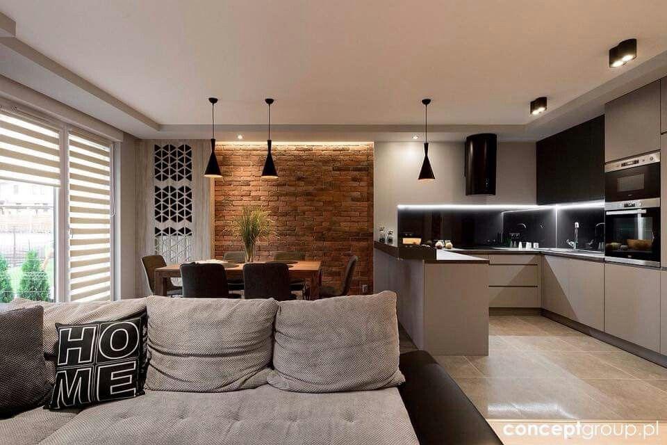 Pin By Ella La On Salon Projekty Wnetrz Kuchni Projekty Salonow Wystroj Apartamentu