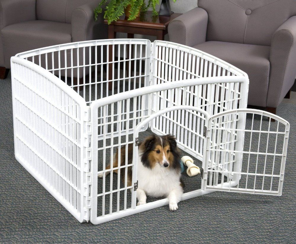 plastique pet parc chien en plastique cl ture pour petits animaux cage caisse transporteur. Black Bedroom Furniture Sets. Home Design Ideas