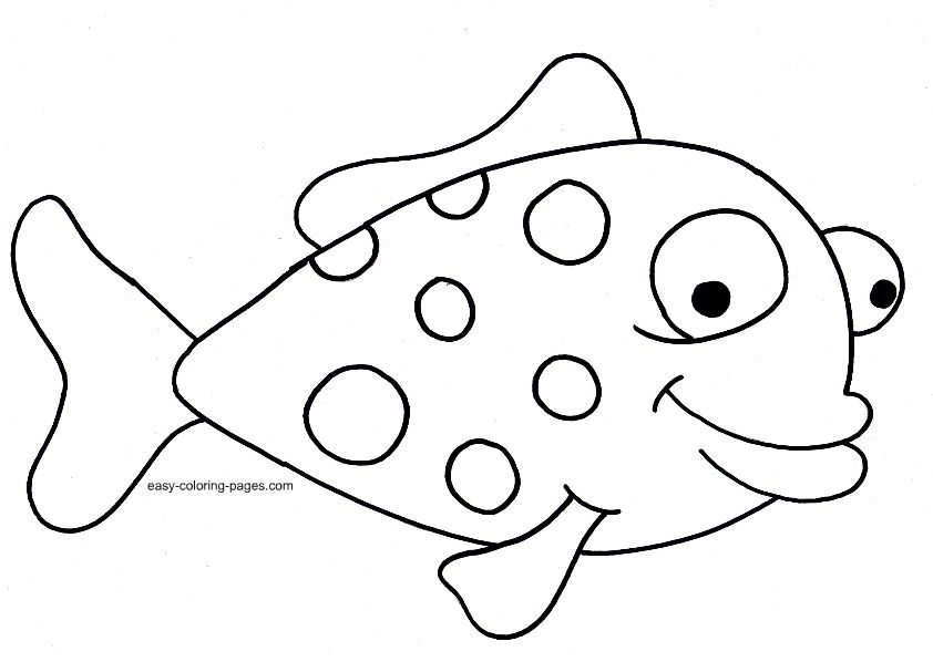 Easy Fish Coloring Pages Coloring Pages