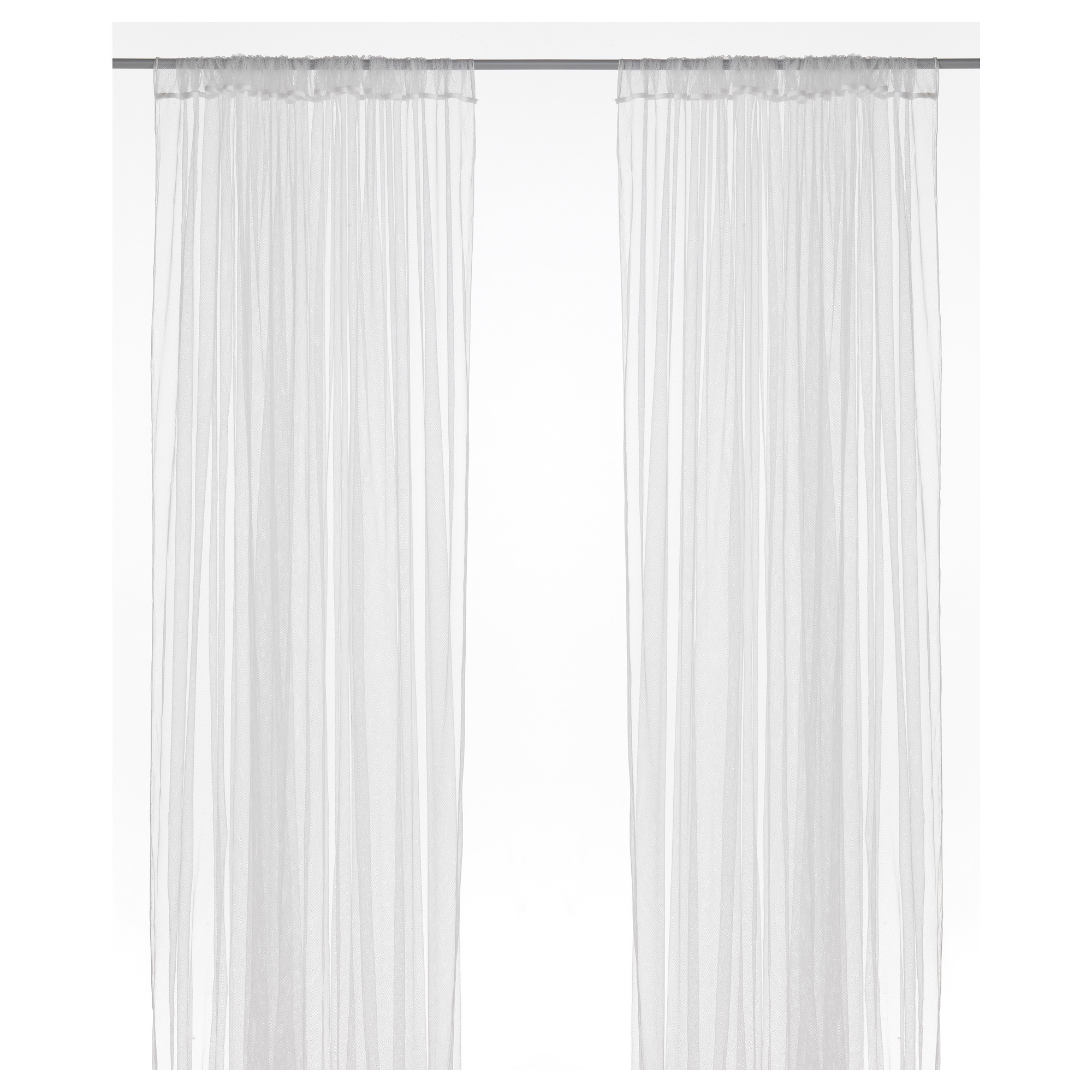 Sheer white bedroom curtains - Lill Lace Curtains 1 Pair White